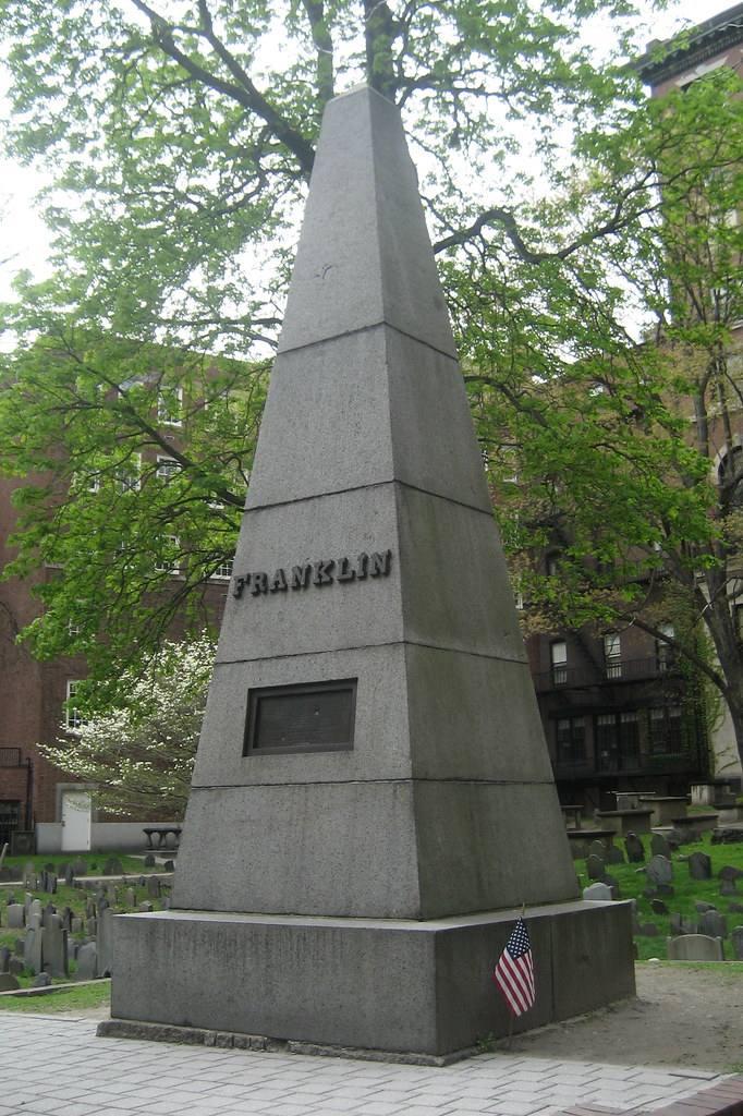Boston Freedom Trail Granary Burial Ground Franklin Cenotaph Flickr Photo Sharing