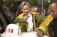 Then LAFD Battalion Chief Roxanne Bercik circa 2003