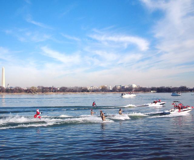 Santa Water Skiiing