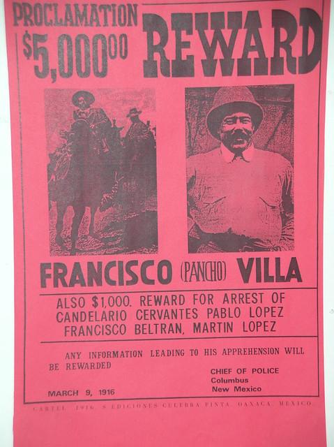 Pancho Villa Wanted Reward Poster