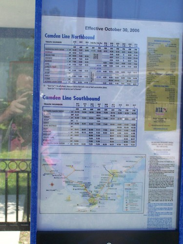 MARC train information, Camden Line