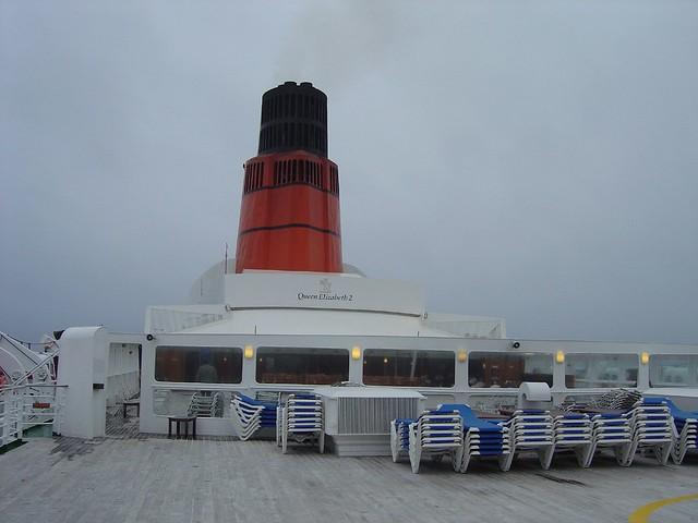 Cunard QE2 signal deck 2004