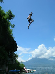 Tyler Jumping off of a Cliff
