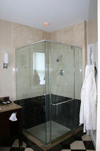 Alluvian Hotel Shower, Greenwood, Mississippi