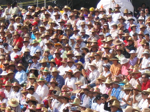 The audience at Guelaguetza 2004