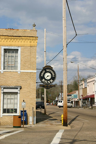 First National Bank sign in Wetumpka, AL