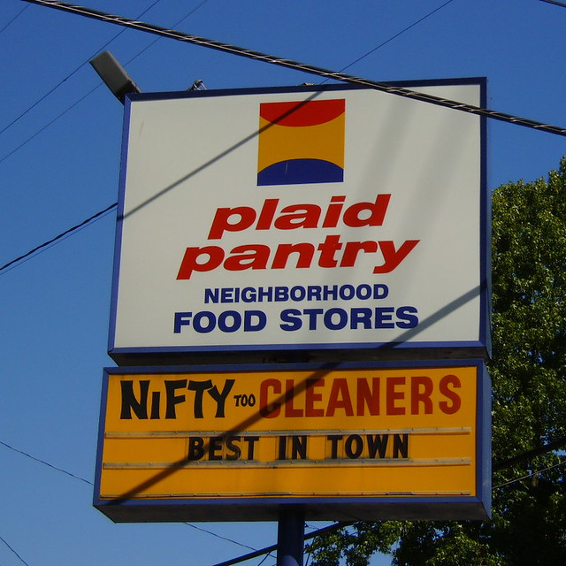 Plaid Pantry sign