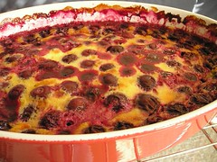 Black cherry clafouti