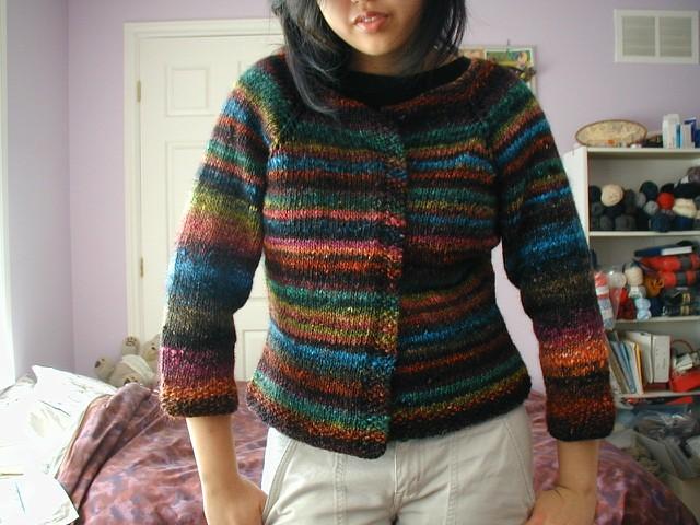 Knit Cardigan Pattern Top Down : Noro Cardigan Pattern: my own top-down raglan cardi Yarn:? Flickr - Photo...