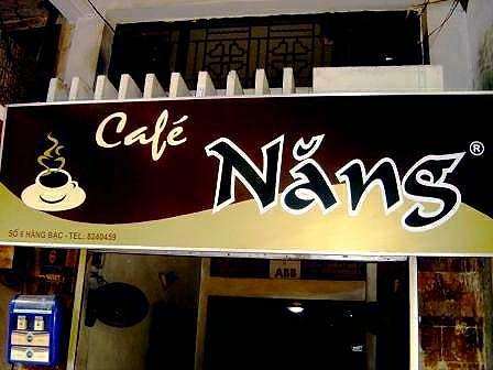 Cafe Nang signage