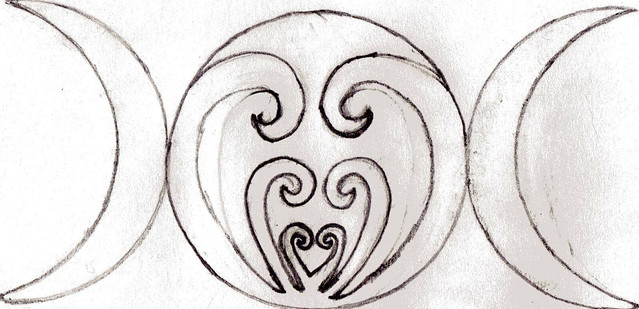 triple moon goddess tattoo symbol click for all 3 moons a photo on flickriver. Black Bedroom Furniture Sets. Home Design Ideas