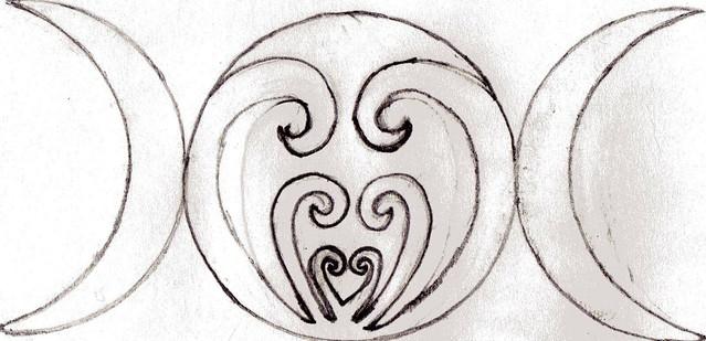 Triple Moon Goddess Symbol