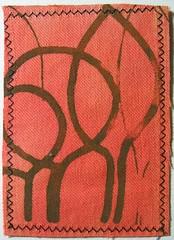 brown(0.0), tablecloth(0.0), design(0.0), carpet(0.0), flooring(0.0), art(1.0), orange(1.0), textile(1.0), red(1.0), maroon(1.0), mat(1.0),