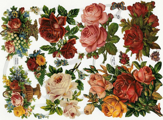 Rose Bouquet  for all Scrap Die Cut Images