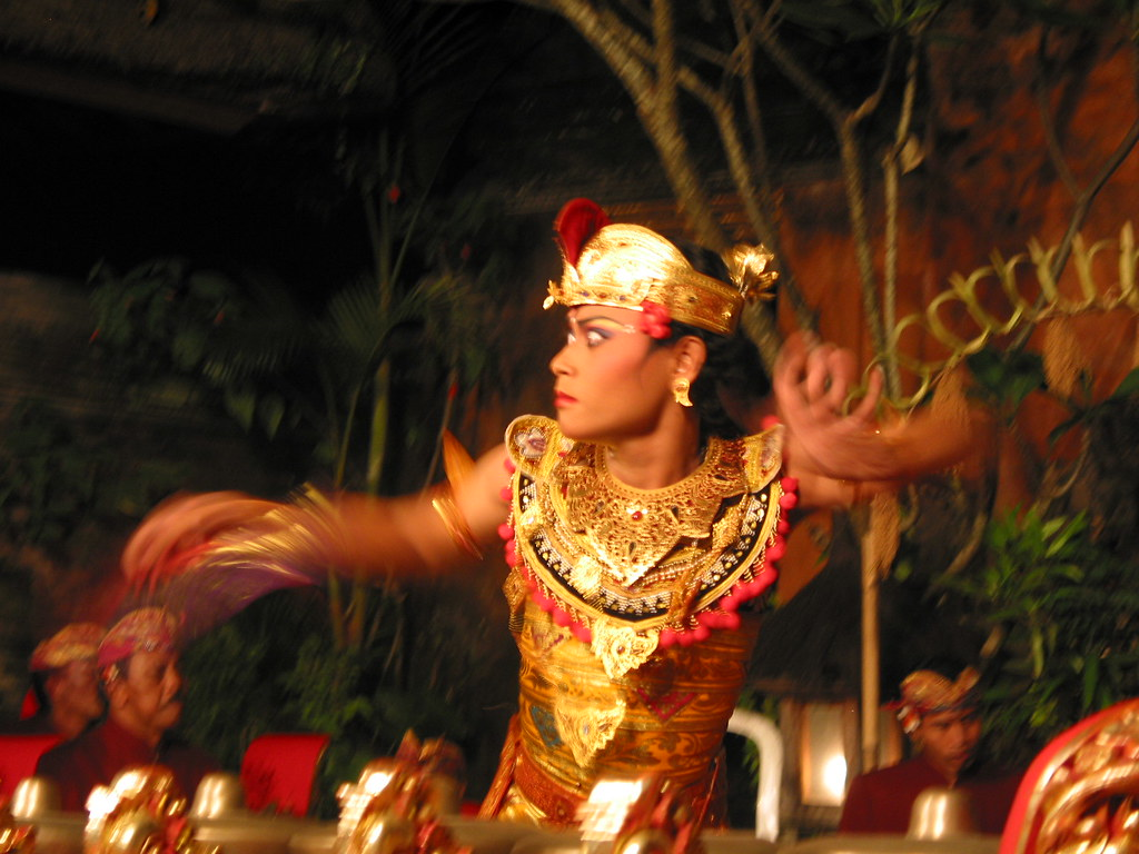 Balinese dancer in action...