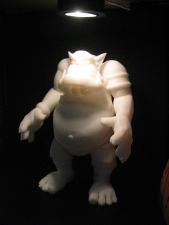 dimension 3D printed orc figurine