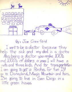 Twenty Years From Now Book, Joe Crawford, Age 8, 1978