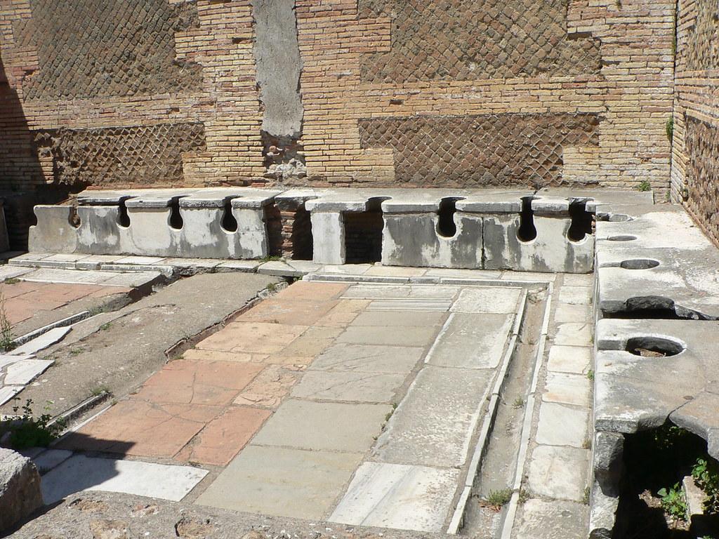 Public toilet in ostia antica italia a photo on flickriver for Mr arredamenti ostia antica