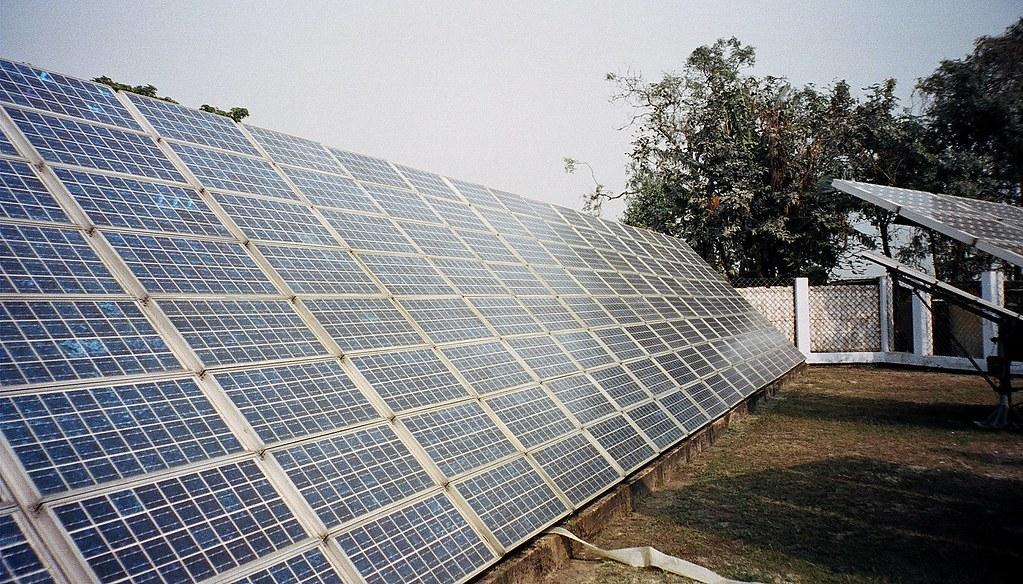 Solar battery charging station, panels