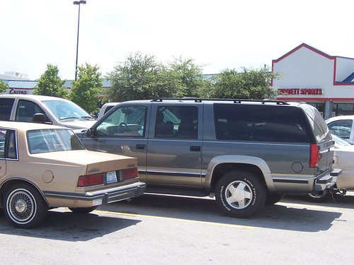 suburb parking lot