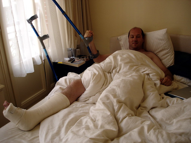 In Bed With A Broken Foot