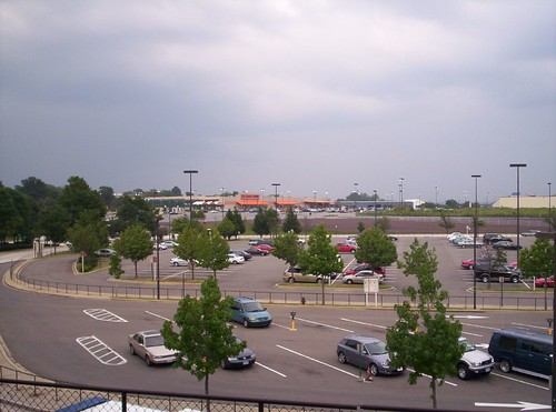 Suburban shopping center at Brentwood-Rhode Island Metro Station