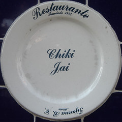 blue and white porcelain(0.0), cobalt blue(0.0), dishware(1.0), serveware(1.0), platter(1.0), plate(1.0), tableware(1.0), saucer(1.0), porcelain(1.0),