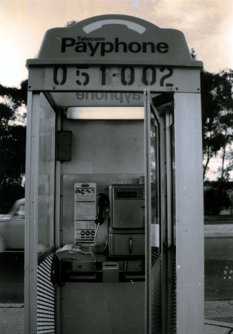 Old fashioned payphone