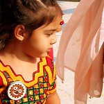 little girl in indian dress
