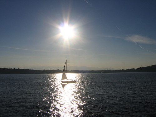 Sun, Sailboat, Sound