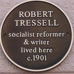 Photo of Robert Tressell brown plaque