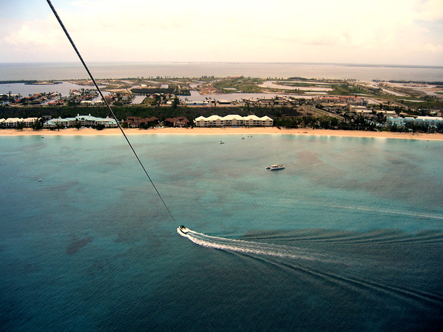 Paragliding above Seven Mile Beach, Grand Cayman
