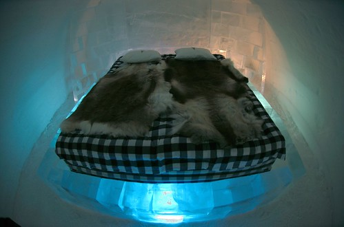 Bed in ice by borud