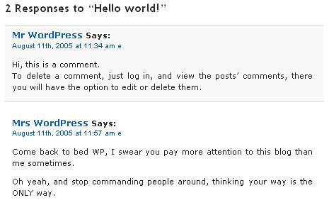 Mr & Mrs WordPress