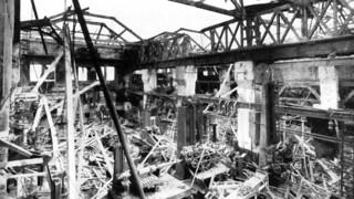 NEM South Dock, Sunderland - bomb damage