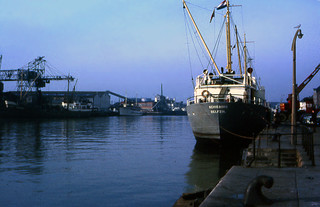 Poole Docks, Dorset, England 1971
