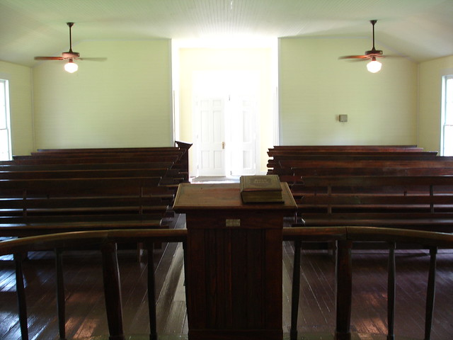 Sanctuary, Old Marbury Methodist Church at Confederate Memorial Park, Marbury AL