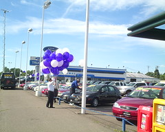 Balloons and Car Lots.