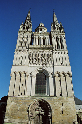 Simple Front Elevation Images : Angers cathedral france spottinghistory