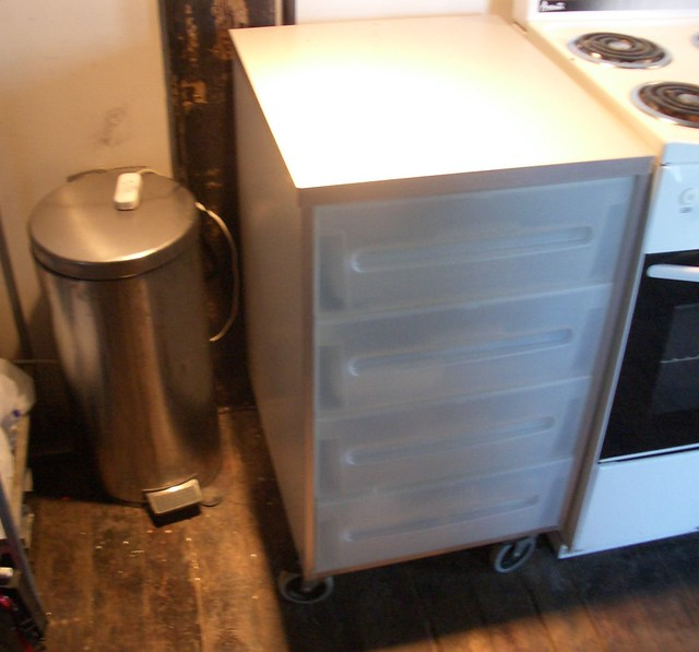 Ikea Kitchen Garbage Can: Ikea Kitchen Drawers And Stainless Steel Trash Can
