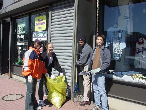 H Street clean up, March 2004