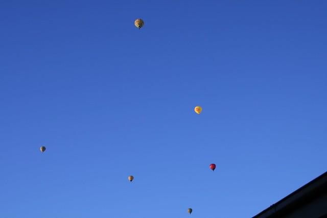 Balloon sunrise, early Sunday morning, Burwood