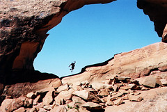 natural arch, adventure, formation, geology, extreme sport, rock, cliff,