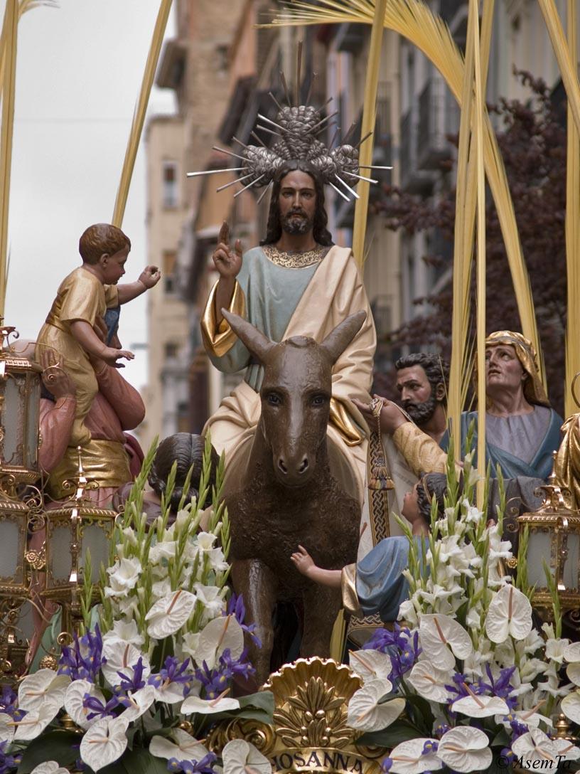 Ramos 2007. Cofradia Entrada de Jesus en Jerusalen. Zaragoza