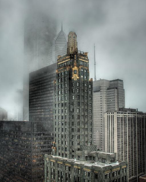 Hard Rock Hotel in fog