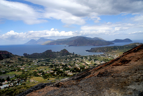 Eolian Islands from top of Vulcano island