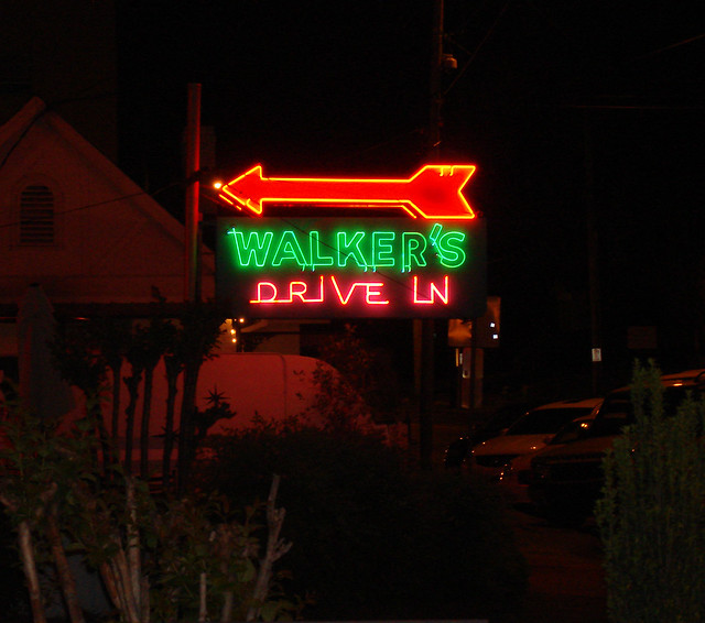 Walker's Drive-In Neon Sign, Jackson MS