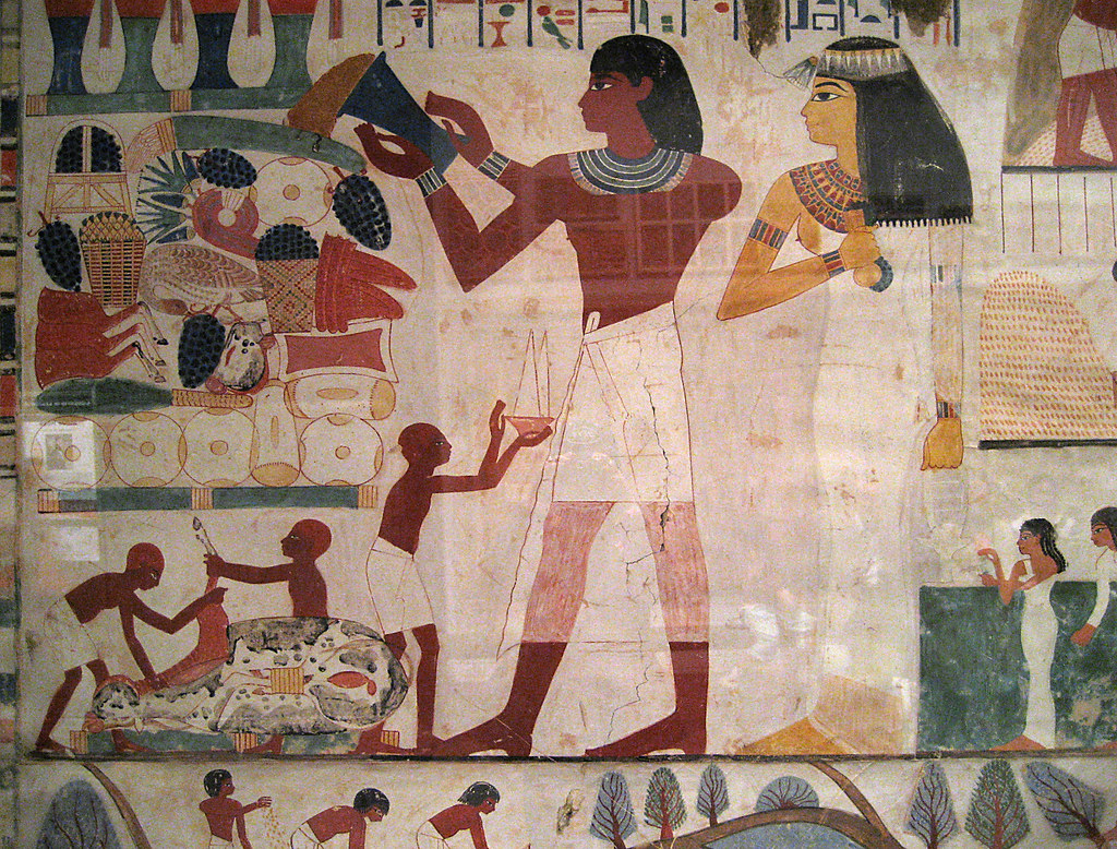Egyptian Wall Paintings From The New Kingdom