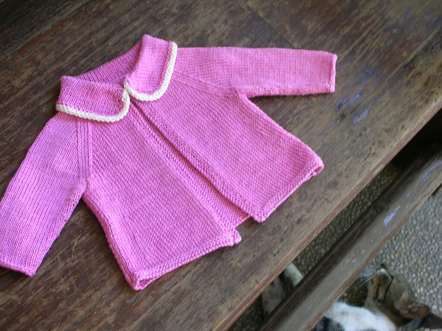 Cardigan for Grace's baby, Nikon S2