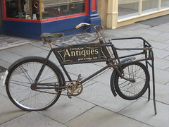 The Antiques shop bicycle.